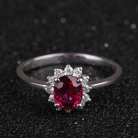Classic Ruby Ring Wholesale 18K Gold Gemstone Engagement Rings For Women Fashion Finger Charm