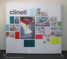 8X8ft Tension Polyester Fabric Fast Trade Show Exhibit Display Banner / Backdrop wall / company logo backdrop / Free shipping