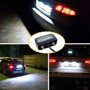 Image 5 - 1 pieza LED placa de matrícula impermeable 12 24 V lámpara de placa de número resistente a los golpes para camión remolque motocicleta luces LED