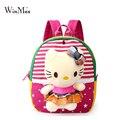 Winmax nuevo estilo coreano lindo bolso de escuela niños mochila con hello kitty conejo muñeca juguetes mochila infantil okul cantasi