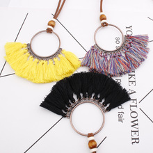 Bohemian Long tassel Pendant for women Natural Long Sweater chain Women's necklaces Ethnic chain Female Long tassel necklace цена 2017