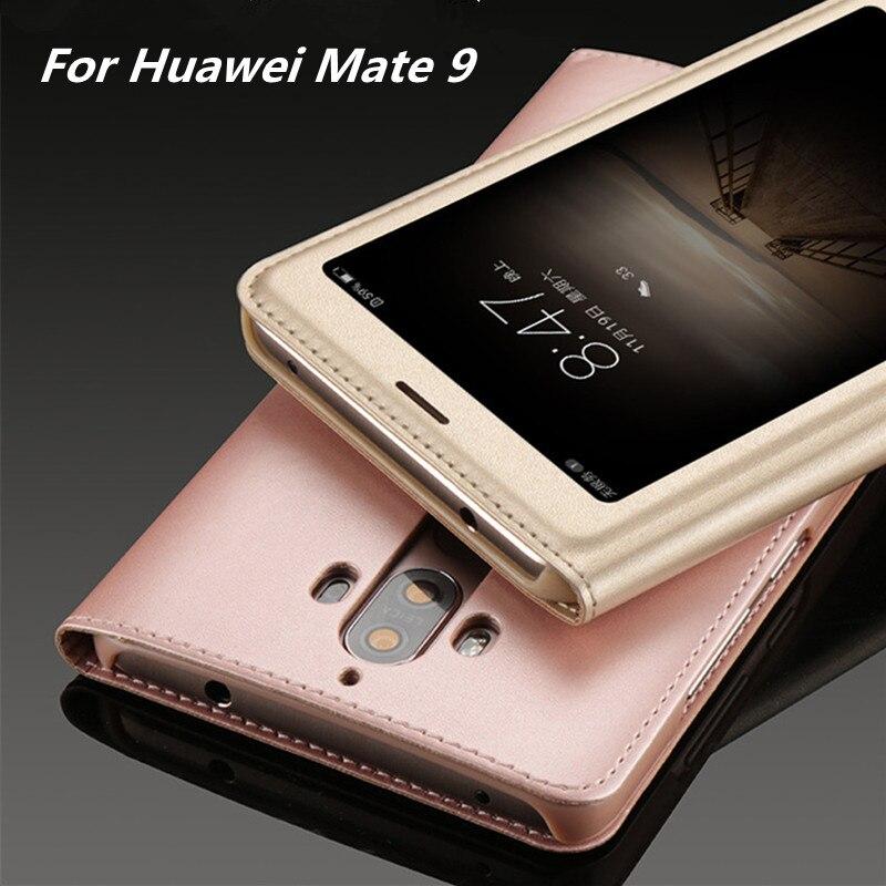 Coque для Huawei Коврики 9 Чехол <font><b>Smart</b></font> ответ Вид из окна телефон чехол для Huawei Коврики 9 Флип кожаный чехол капа Caso телефона