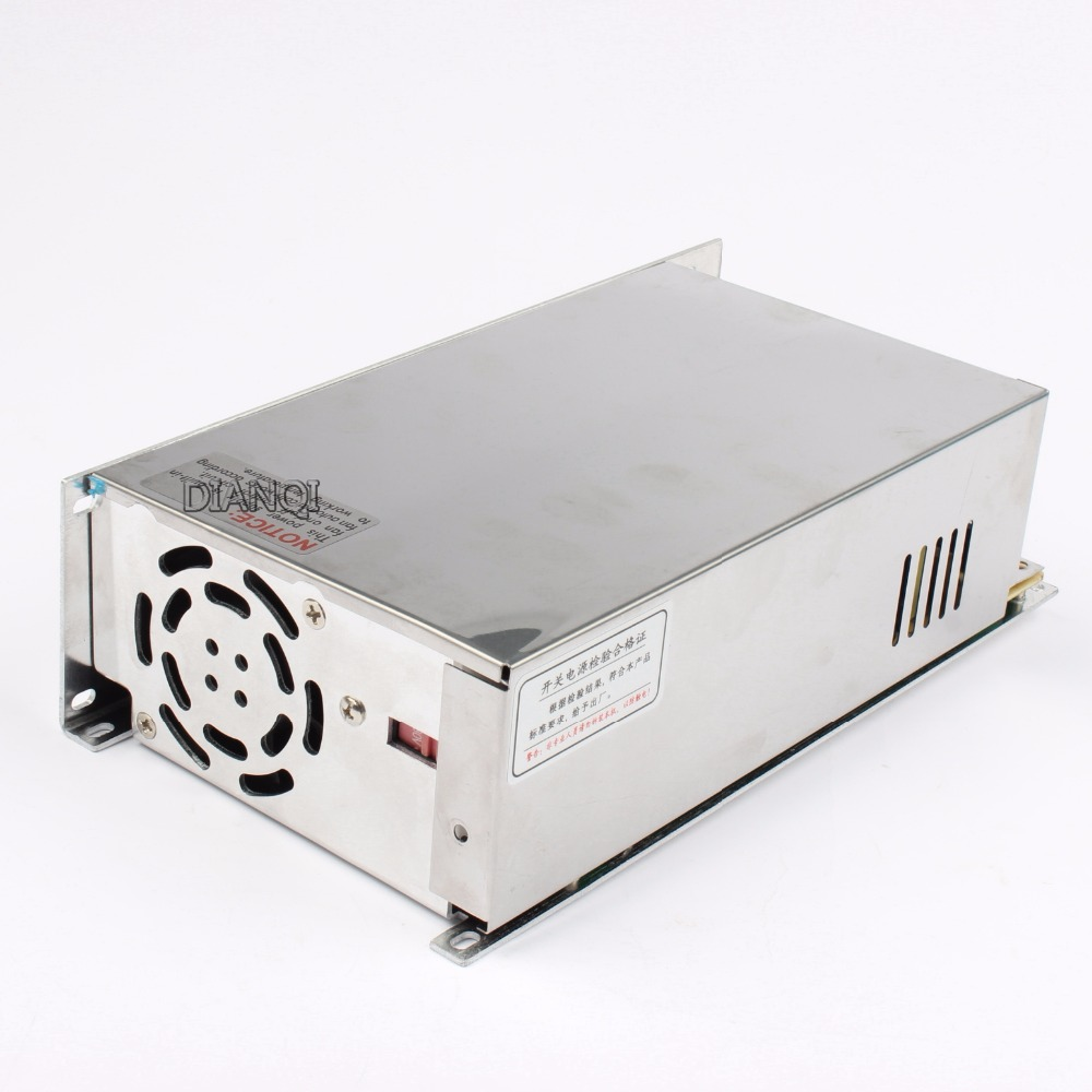 DIANQI switching power supply 600W 12V 13.5V 15V 24V 36V 48V ac to dc power supply Input 110v 220v ac dc converter good quality