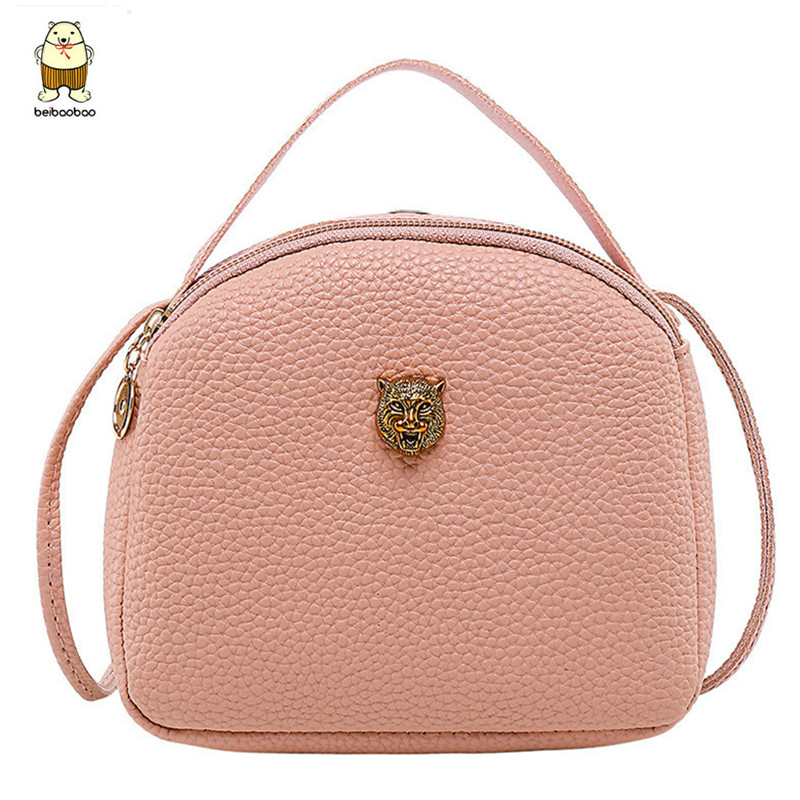 Beibaobao 2019 Fashion PU Leather Crossbody Mini Shoulder Women Handbag Messenger Bags Lady Female Crown Tiger Head Wallet
