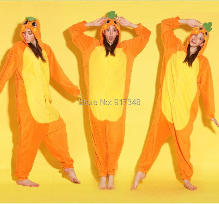Wortel One Piece Clothing Onesies Pajamas Jumpsuit Hoodies Dewasa Cos Costume untuk Halloween dan Karnival