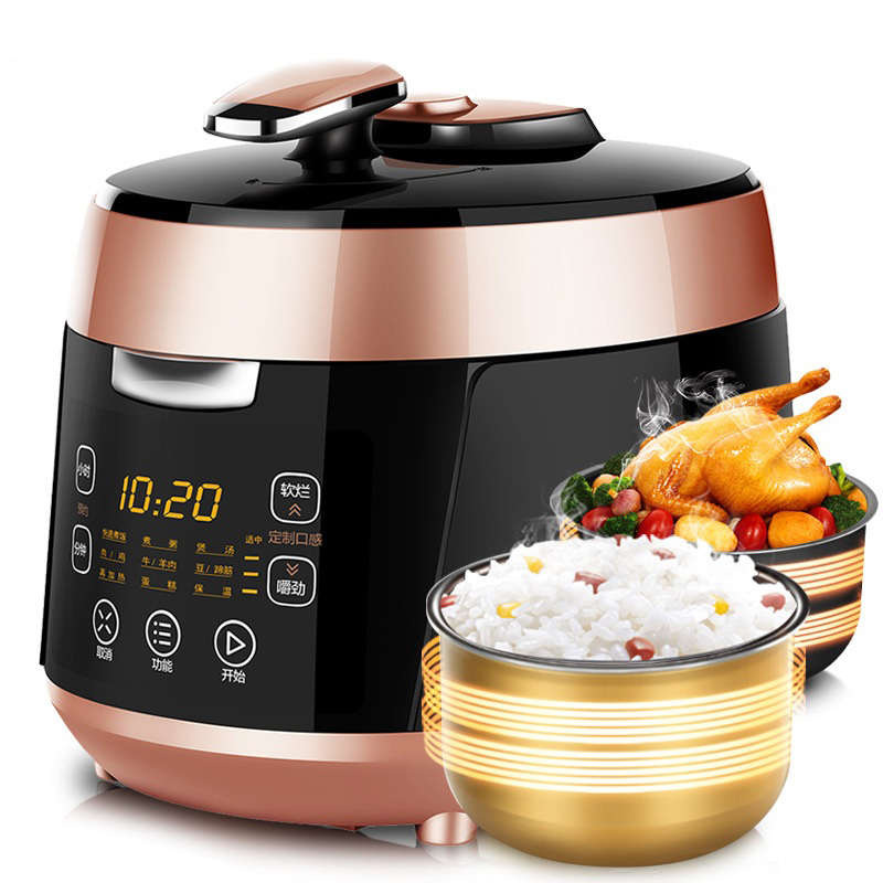 DMWD Multifunction Electric Pressure Cooker Rice Cooker Stew Soup Porridge Breakfast Maker Double Stewpots 24H Appointment 220V electric pressure cookers electric pressure cooker double gall 5l electric pressure cooker rice cooker 5 people