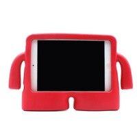 ل أبل مصغرة 1/2/3 الشبكية للأطفال طفل آمن درع صدمات الثقيلة سيليكون لينة حالة غطاء حامي الشاشة 3d لطيف الكرتون