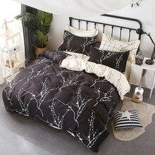 Classic bedding set 4 size grey blue dog bed linens 4/3pcs duvet cover Pastoral sheet AB side 2018