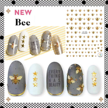 CA-197-198 bees bug  3d nail art stickers decal template diy nail tool decorations