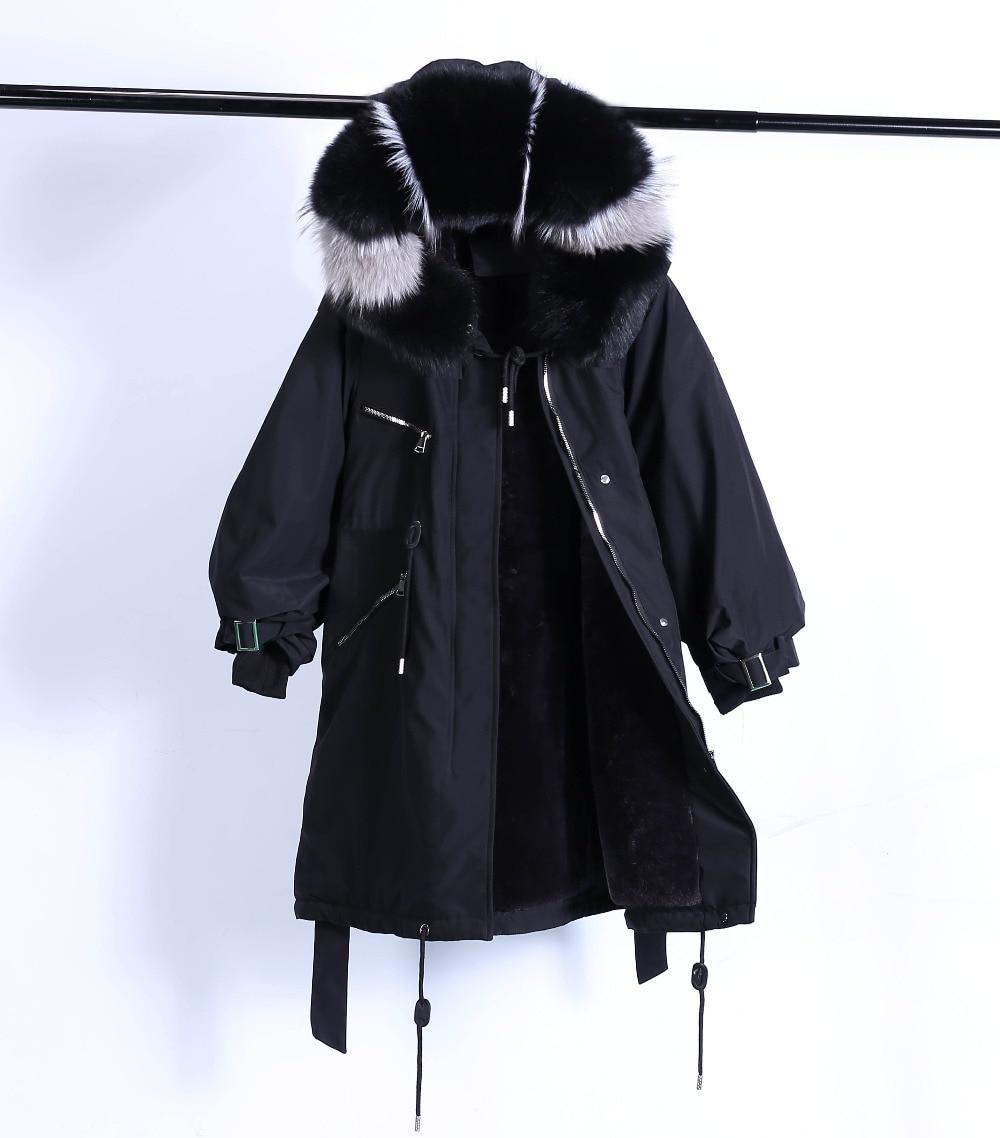 Large Natural Raccoon Fur Winter Jacket Women Hooded 19 Long Parkas For Female Thick Slim Down Winter Coat Women Waterproof 33