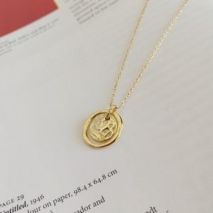 Image 3 - LouLeur 925 sterling silver Eternal love gold pendant necklace seas run dry rocks crumble creative neckalce for women jewelry