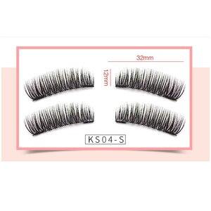 Image 3 - False Eyelashes Magnetic Natural 2 Magnets Set Natural Long Wearing Without Glue Long Lasting Multiple Magnetic Eyelashes
