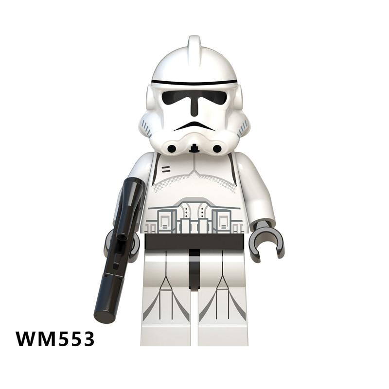 Silver Chrome Stormtrooper Star Wars Minifigure Stand Skywalker Clone FREE SHIP