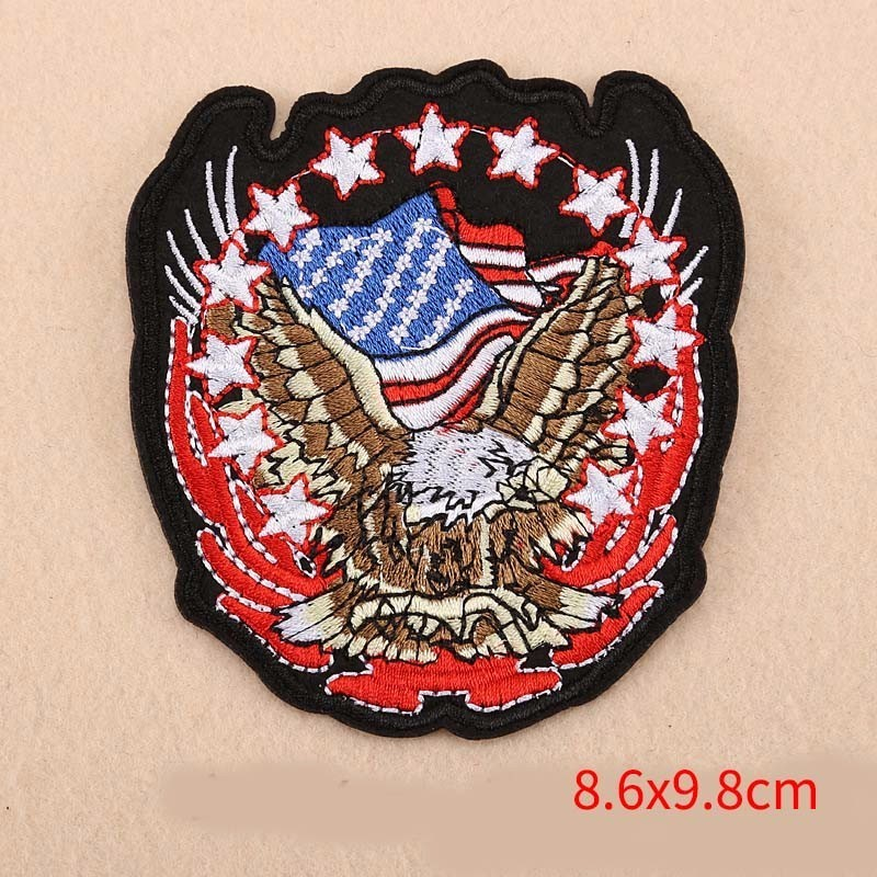 1e16bd41 PGY American Eagle Army Badge Punk Rock Bike Patch Large Embroidery Biker  Patch Motorcycle Patches For Clothes Jeans Vest Patch