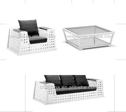 2017 New Concept White Color Outdoor Lounge Sofa Set