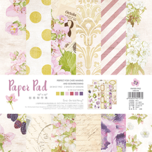 NEW! ENO Greeting Purple Floral FlowerScrapbooking Pads Pape