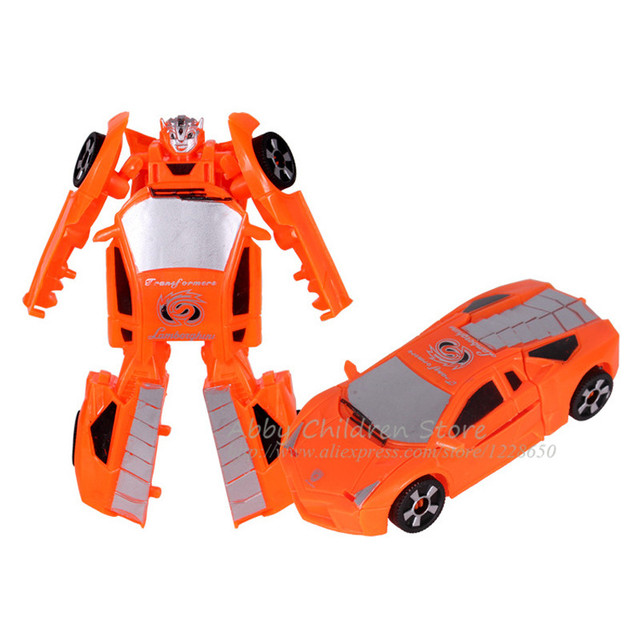 transformation robot car plastic transform toy educational learning model building kits kids toys for children birthday