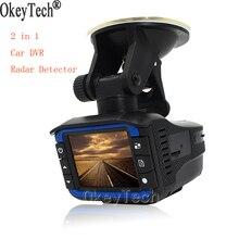 Okeytech Best 2 в 1 Видеорегистраторы для автомобилей Антирадары Камера Регистраторы Анти радар-g-сенсор 140 градусов Широкий формат русский и английский Голос