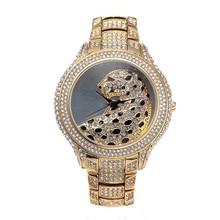 NOBDA Femmes de Montres Femmes Designer De Luxe Léopard Diamants Quartz Or Montre Dames Montre-Bracelet montre femme relogio feminino