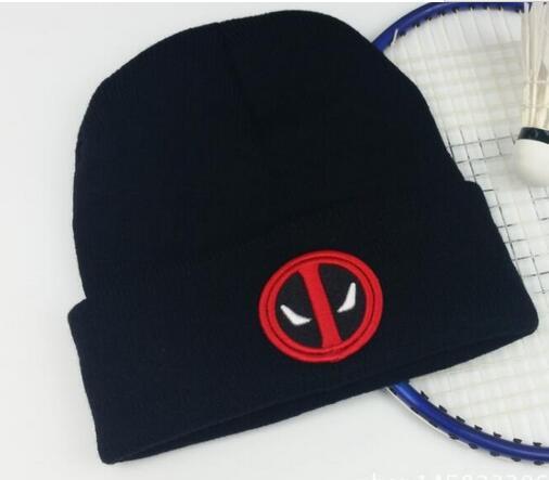 Deadpool knitted hat women Men hat cap Winter Knitted Wool Cap Unisex  Skullies hat Beanie Hat Casual Gorro cap