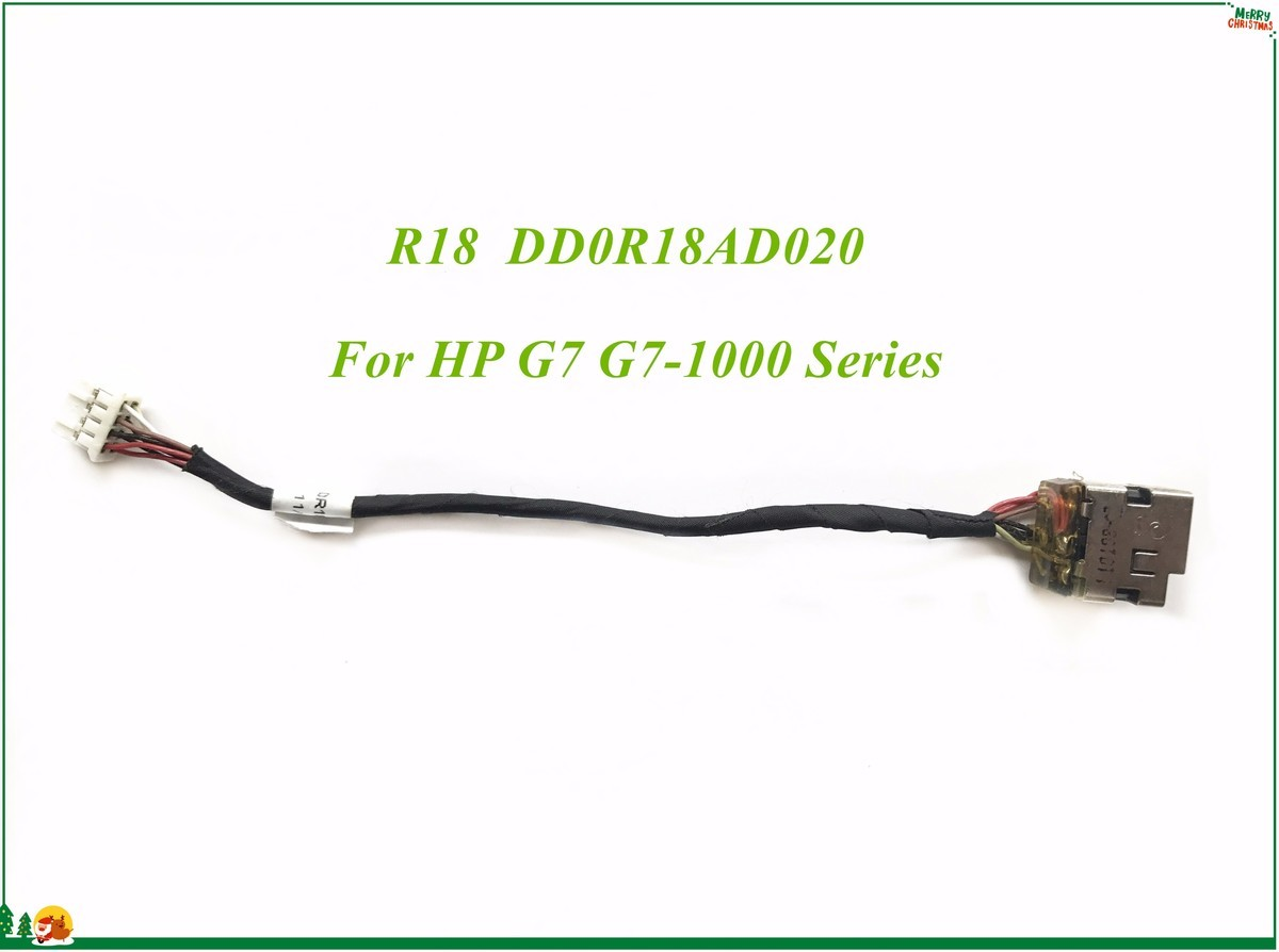 DC Power Jack With Flexible Cable Connector R18 DD0R18AD020 For HP G7 G7-1000 Series Wholesale&High Quality&100% Working