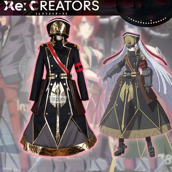 Amine Re:Creators cosplay Gunpuku no Himegimi Anime Costume for Adlut Uniform Party Halloween Carnival Costume