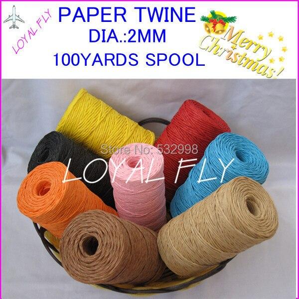 3 copë / shumë 10 ngjyra Raffia fjongo / Letra letre / spango - Furnizimet e partisë - Foto 2