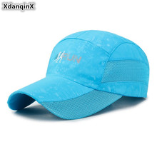 XdanqinX Summer Breathable Hat Snapback Cap Womens Fashion Ponytail Baseball Caps Adjustable Size Mens Mesh Ventilation