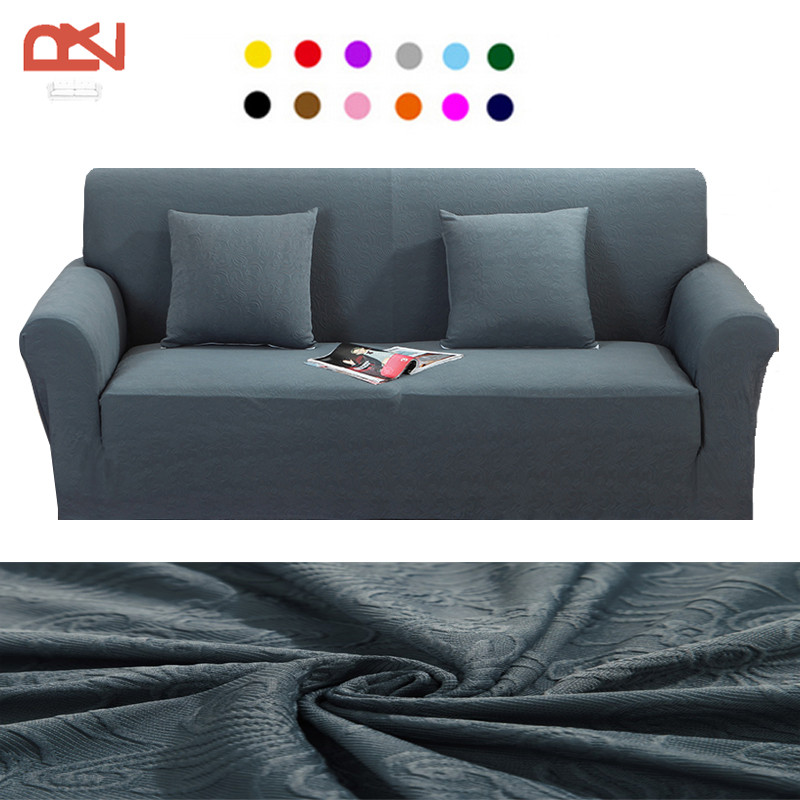 Covers For Furniture Jacquard Modern High Quality Soft Fabric Loveseat  Universal Corner Couch Sofa Covers Protector Sofa