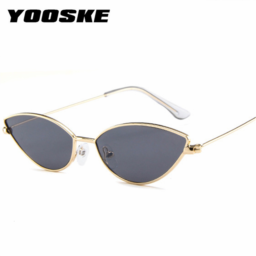 533f94b6cee Detail Feedback Questions about YOOSKE Small Cat Eye Sunglasses Women  Vintage Metal Sun Glasses Ladies Ocean Lens Eyewear Shades for Womens on ...