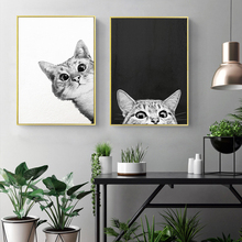 No Frame Wall Art Cartoon Animal Cat DIY Painting By Numbers On Canvas And Calligraphy HandPaint Oil for Home