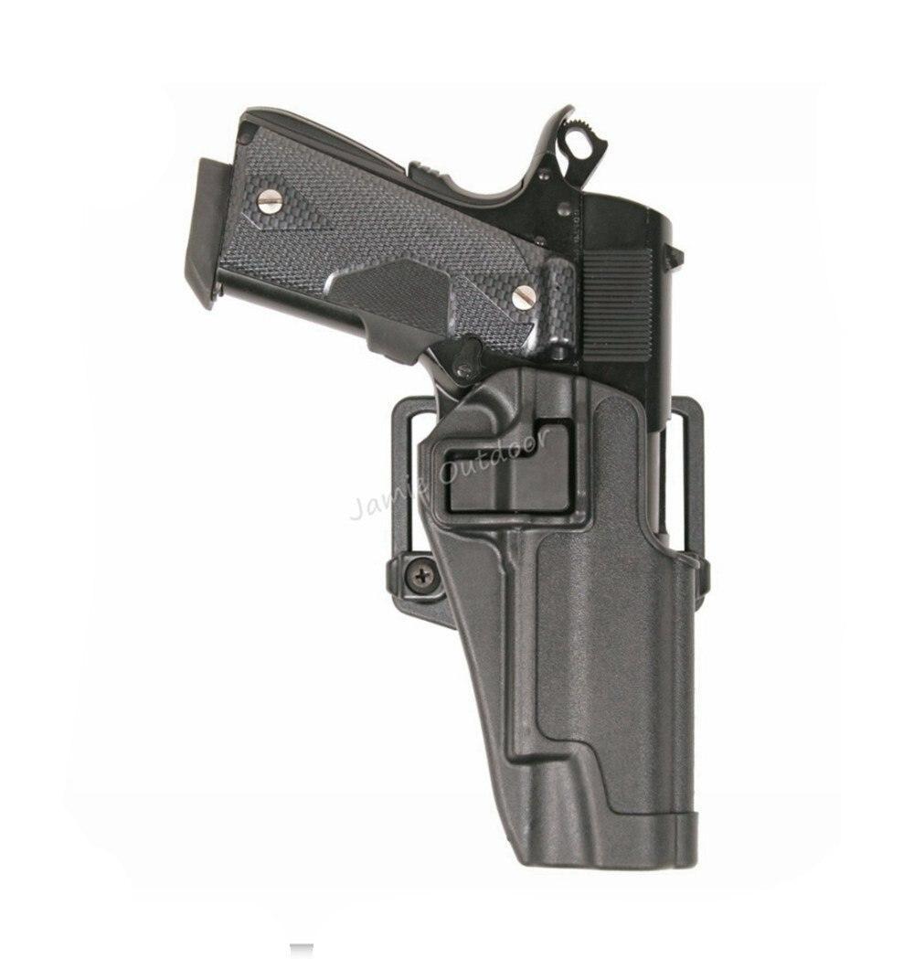 CQC Militar Tactical airsoft Caza pistola cinturón pistolera W/paddle para Colt 1911