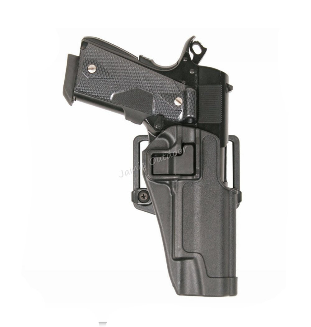 CQC Military Tactical Airsoft Hunting Gun Holster Right Hand Belt Holster w/ Paddle fits Colt 1911 патч для чистки оружия a2s gun 45 colt 450 marlin 410 диаметр 12 5 мм 250 шт