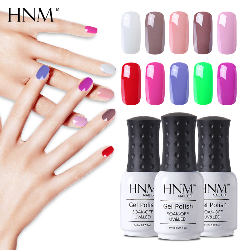 Aliexpress.com : Buy HNM 28 Colors 8ML Gel Nail Polish UV