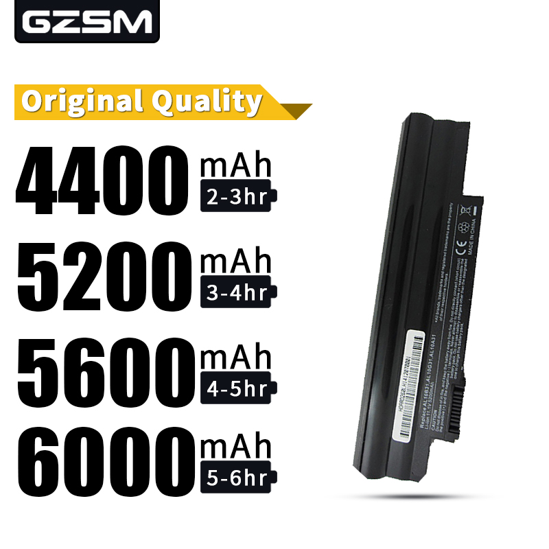 HSW  Laptop Battery For ACER Aspire ONE Happy 522 722  D255  D255E  D257 D260 D270 E100 AL10B31 AL10A31 AL10G31 Notebook Battery