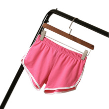 Women Short Elastic Waist All-match Loose Soft Cotton Casual Pure Color Short Affordable
