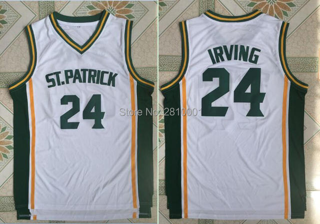 reduced kyrie irving 24 st. patrick college basketball jerseysstitched kyrie  irving shirt high school 80021 c49dd8ccb