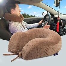 昼寝枕ヘルスケアu字型枕飛行機トラベルピロー快適なクッション低反発ネック車寝具枕