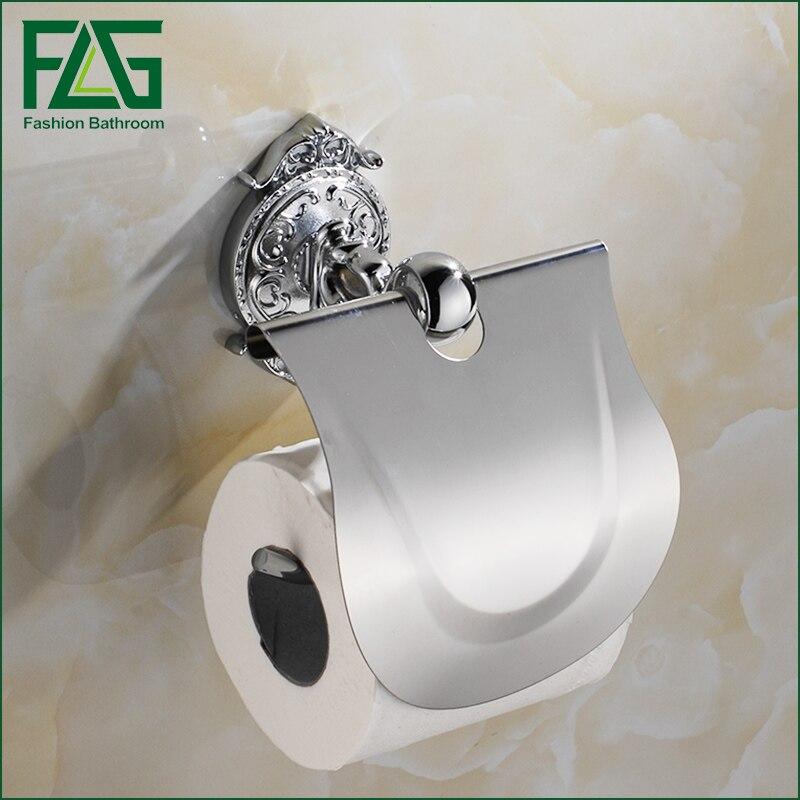 FLG Bathroom Toilet Paper Holder Chrome Wall-mounted Paper Holder Bathroom Accessories Porta Papel Higienico flg bathroom accessories wall mounted tumbler holder cup