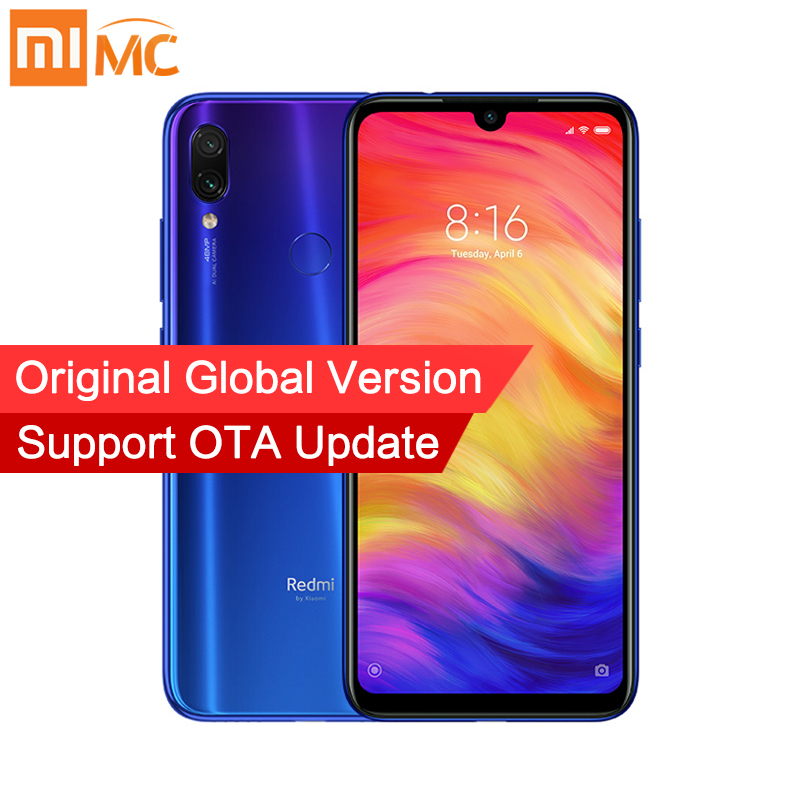 Global Version Xiaomi Redmi Note 7 4GB <font><b>64GB</b></font> MIUI 10 <font><b>Smartphone</b></font> Snapdragon 660 Octa Core 6.3