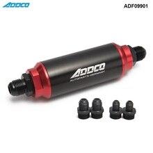 40 микрон черный топливный фильтр INLINE-6AN-8AN-10 Универсальный Высокий Поток TURBO ADF09901
