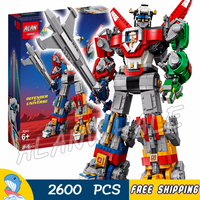 2321Pcs Ideas Voltron Legendary Lion Robots Transformation Universe 11011 Figure Building Blocks Toys Compatible With LegoING