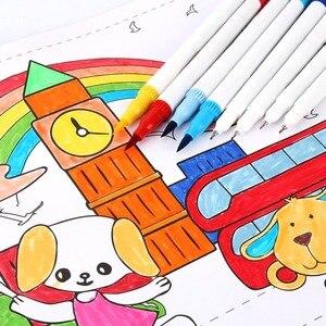 Image 2 - Pennello set marcatore per Rifornimenti di Arte 48/60/100/120 Colori Spazzola Morbida Marcatore Per Il Disegno Pittura Set Acquerelli penna per la Scuola