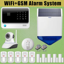 Chuangkesafe Sirena Solar G90B WiFi GSM GPRS Wireless Intruder Antirrobo + Ip + Humo Senser
