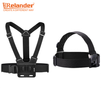 Crelander Action Camera Accessories Elastic Head Strap Adjustable Chest Strap Mount Belt For SJCAM YI EKEN