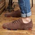 2016Hot Продажа Весна Осень Мода Мужчины Обувь Мужская Квартиры Повседневная Замшевые Туфли Удобные Дышащие Квартиры Вождения Мокасины 39-44