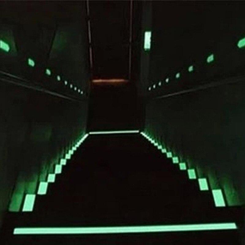 1PCS 10-30mm DIY Glow Lumious tapes Warning stripes Night lighting emergency lines wall vinyl sticker Fluorescent Stairs Line B2 vasos sanitários coloridos