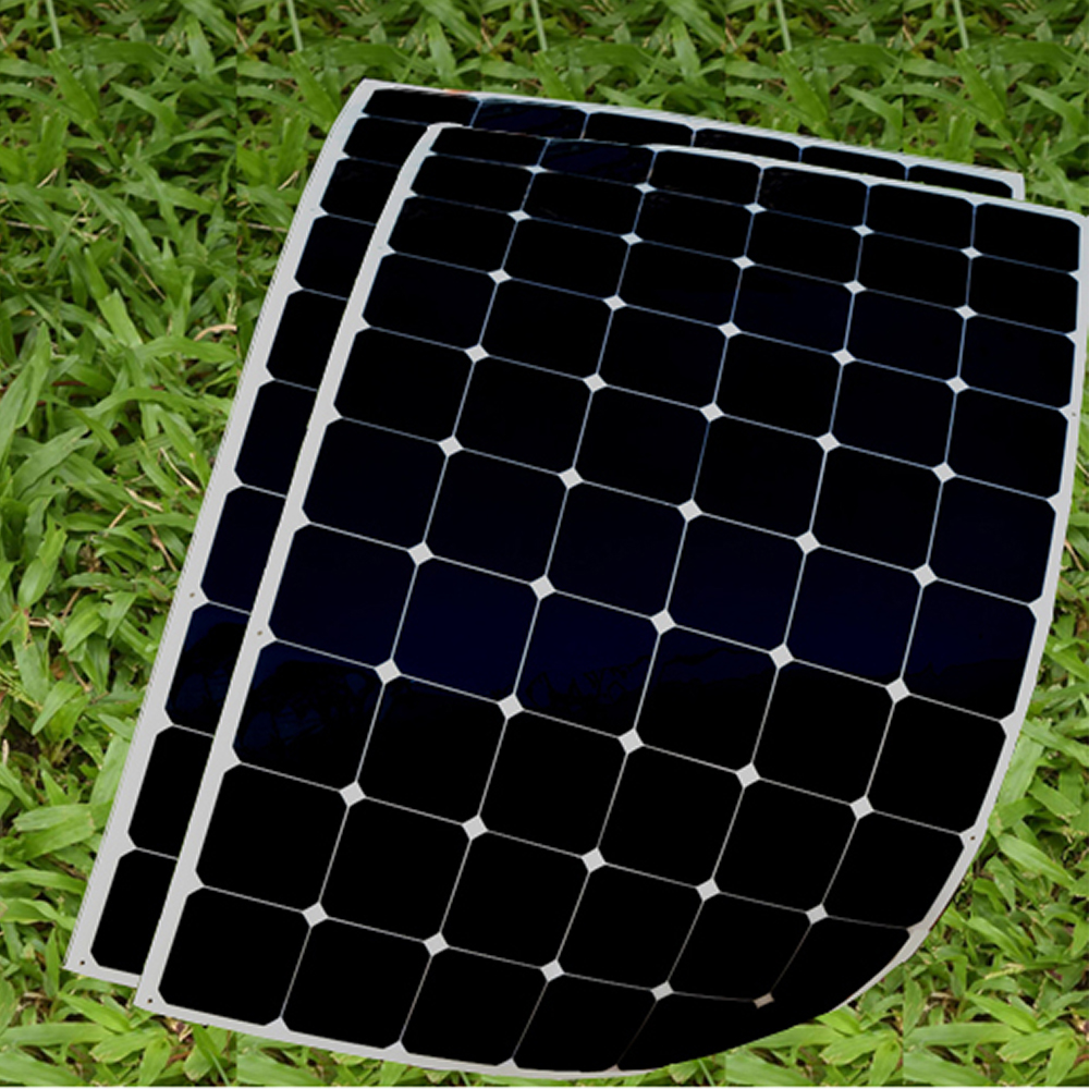 Boguang 2X 180W flexible solar panel cell system DIY kits 12V for RV/BOAT/HOME front junction box MC4 connector 125*125mm sun flexible solar panels 25w for boats with connection box 0 9m cable mc4 connector 12v