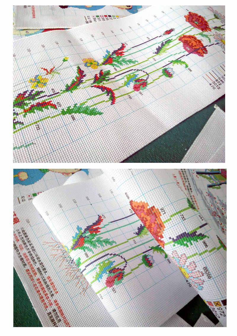 ดอกไม้ Still Life พิมพ์ CROSS Stitch Home มือเย็บปักถักร้อย DEFA1-15 ดอกไม้ที่สวยงาม Fishxx ใหม่ผลิตภัณฑ์ Milky ผ้า 14CT ชุด