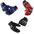 Guante de alta calidad al aire libre deporte equipo de protección moto completo dedo guantes hombres moto motocicleta motocross guantes entrega rápida